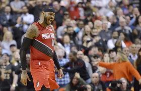 Carmelo Anthony vakaras Toronte: rezultatyviausias mačas ir pergalingas dūris