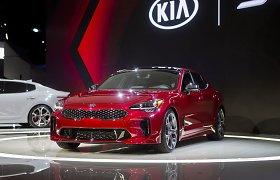 """Detroite pristatytas galingiausias KIA automobilis – """"Stinger"""""""