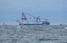 """""""Nord Stream 2 AG"""" atstovas: dujotiekį tiesiantys laivai reguliariai provokuojami"""