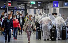 Frankfurto oro uoste keleiviams pasiūlyta galimybė atlikti greituosius koronaviruso testus