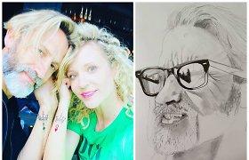 Įsimintinas Editos Gozzoli karantinas: vyras piešia portretus, o jausmus pora įamžino tatuiruotėmis