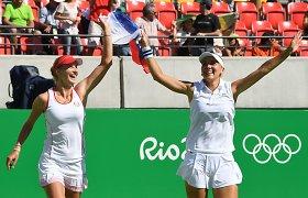 Rio olimpiadoje – pirmasis Rusijos tenisininkių triumfas
