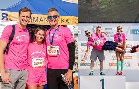Žinomus žmones Vilniaus maratone vėl subūrė R.Kaukėno iniciatyva: bėgo dėl sunkiai sergančių vaikų
