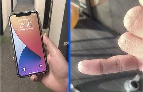 Palyginkite savo rankų mažylius pirštus: dėl per dažno naudojimosi telefonais šie gali deformuotis