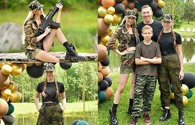 I.Stumbrienės dukters 15-asis gimtadienis: kareiviška apranga ir jokių gėlyčių