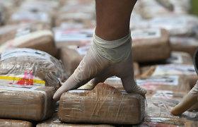 Urugvajuje konfiskuotas rekordinis šalies istorijoje kiekis kokaino
