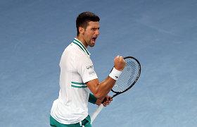 """""""Australian Open"""": N.Džokovičius užbaigė ruso stebuklus pusfinalyje"""