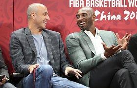 """M.Ginobili savo tautiečiui perdavė ypatingą žinią – jį matyti """"Lakers"""" norėjo pats Kobe"""