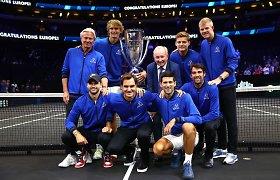 Svajonių komanda: R.Federerio vedami europiečiai nukovė Pasaulio rinktinę