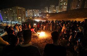 Irane per ugnies šventę žuvo trys, buvo sužeisti šimtai žmonių