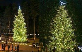 Visaginas įžiebė išmanią Kalėdų eglutę: lemputės mirksės pagal pasirinktą dainą