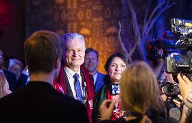 Po kalbos S.Daukanto aikštėje Gitanas Nausėda grįžo į rinkimų štabą