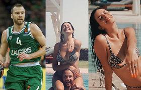 Krepšininkas Lukas Lekavičius susižadėjo su mylimąja Melina