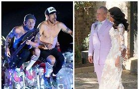 """Grupės """"Red Hot Chili Peppers"""" narys žengė prie altoriaus – vedė mylimąją mados dizainerę"""
