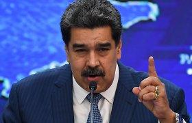 """JAV prokurorų """"narkoterorizmu"""" apkaltintas N.Maduro išvyko retos kelionės į Meksiką"""