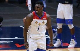"""Zionas panaudojo D.Sabonio veiksmą, o """"Pelicans"""" sugrįžo įspūdingiausiai per klubo istoriją"""