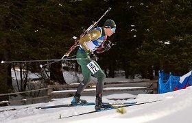 """Biatlono estafetėse žibantis T.Kaukėnas: """"Kai yra papildomų šovinių, šaudau drąsiau"""""""
