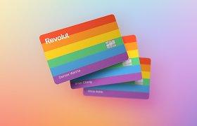 """""""Pride"""" mėnesį """"Revolut"""" pristato paramos kampaniją, vaivorykštės spalvų kortelę"""