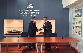 """""""Vakarų Baltijos laivų statykla"""" statys naują keltą """"Smiltynės perkėlai"""""""