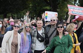 """Žinomi žmonės """"Kaunas Pride"""" eitynėse"""