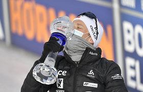 Intrigos kupiną biatlono sezono finišą vainikavo norvegų lemiama dvikova