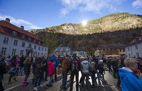 Miestas Norvegijoje, kuriam reikia gigantiškų veidrodžių, kad pamatytų Saulę