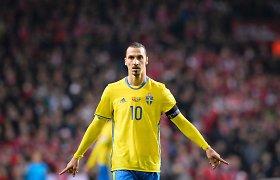 """""""Dievo sugrįžimas"""": Zlatanas po ilgos pertraukos vilksis Švedijos rinktinės aprangą"""
