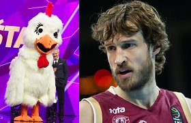 """Simas Jasaitis – apie šou """"Kaukės"""" naujoką: """"Tokia milžiniška Višta gali būti tik krepšininkas"""""""