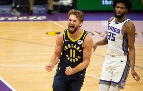 """""""Pacers"""" sezoną apžvelgęs D.Sabonis – apie tobulėjimą ir erzinantį dalyką"""