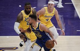 """Prieš didžiulės svarbos rungtynes """"Lakers"""" turi vieną tikslą: sustabdyti S.Curry"""