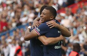 Užteko tik K.Mbappe: PSG pratęsė pergalingą žygį Prancūzijoje