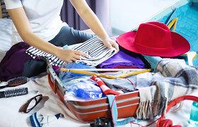 Vynioti, lankstyti ar kloti sluoksniais – kaip geriausia supakuoti drabužius į lagaminą?