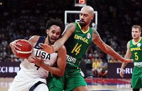 JAV rinktinė palaužė Braziliją ir žengė į ketvirfinalį
