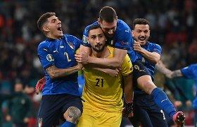 Ar Italijos vartininkas suvokė, kad laimėjo? Įdomi finalo didvyrio reakcija