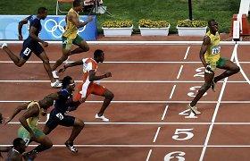 Usainas Boltas laikytis atstumo paragino iškalbinga nuotrauka