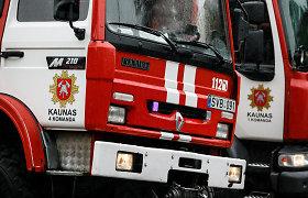 Kaune – ugnies liepsnos naujai statomame daugiabutyje
