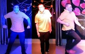 Geltonoji banga – ir Jonavos neįgaliųjų veiklos centre: šokiu stengėsi pamiršti ribas ir ligas