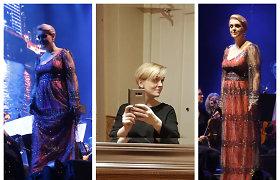 Neseniai dukros susilaukusi Rūta Ščiogolevaitė pasirodė ant scenos su nauja šukuosena