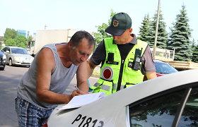 Joninių išvakarėse reidą surengę Panevėžio policijos pareigūnai pričiupo girtą vairuotoją