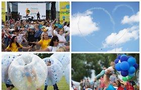 Globėjų festivalyje vaikų džiaugsmas aidėjo garsiau už lėktuvų motorus