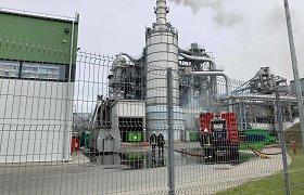 Ugniagesių vadovas: degusioje Klaipėdos įmonėje pažeidimų nebuvo