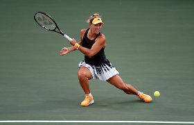 Kinijoje – skirtingas Angelique Kerber ir Petros Kvitovos startas