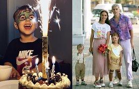 Veronikos ir Donato Motvydų sūnus atšventė 4-ąjį gimtadienį: karantinas – ne kliūtis
