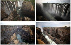 Stulbinančiose nuotraukose – kone sausutėlis Viktorijos krioklys