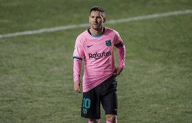 """""""Barca"""" su sugrįžusiu L.Messi vos išvengė antros lygos klubo antausio"""