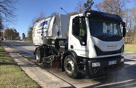 Klaipėdos gatvių valymas po žiemos dar nebaigtas