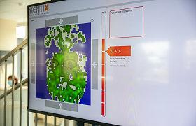 Vilniaus licėjuje moksleiviams matuos temperatūrą – reikės sulaukti žalios arba raudonos šviesos