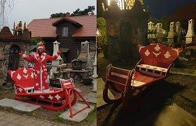 Vilnietės kieme – šimto metų senumo Kalėdų senelio rogės
