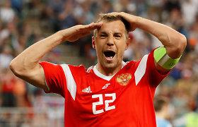 Rusijos futbolo žvaigždė išmestas iš rinktinės pasklidus masturbacijos įrašui