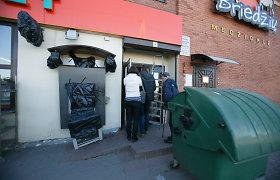 Iš susprogdinto Karmėlavos bankomato pavogta 91 tūkst. eurų